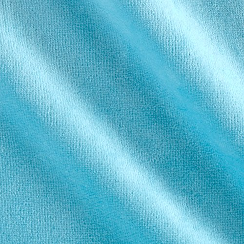 Cotton Velour Fabric - Mike Cannety Textiles Solid Velour Turquoise Fabric by The Yard,