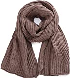 ORSKY Women Winter Knitted Scarves Rectangle Khaki