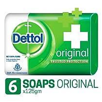 Dettol Original Germ Protection Bathing Soap bar, 125gm, Pack of 6