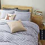 FADFAY Home Textile,Cute Little Star Bedding,Modern Gray Based Boys Duvet Cover Set,Fashion European Style Home Choice Duvet Set