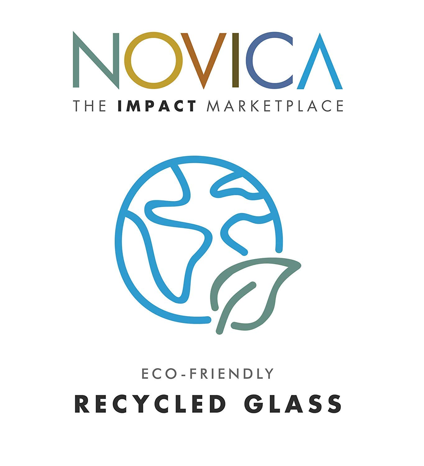 NOVICA Artisan Crafted Hand Blown Clear Blue Rim Recycled Glass Juice Glasses, 8 oz. 'Cobalt' (set of 6) by NOVICA (Image #5)