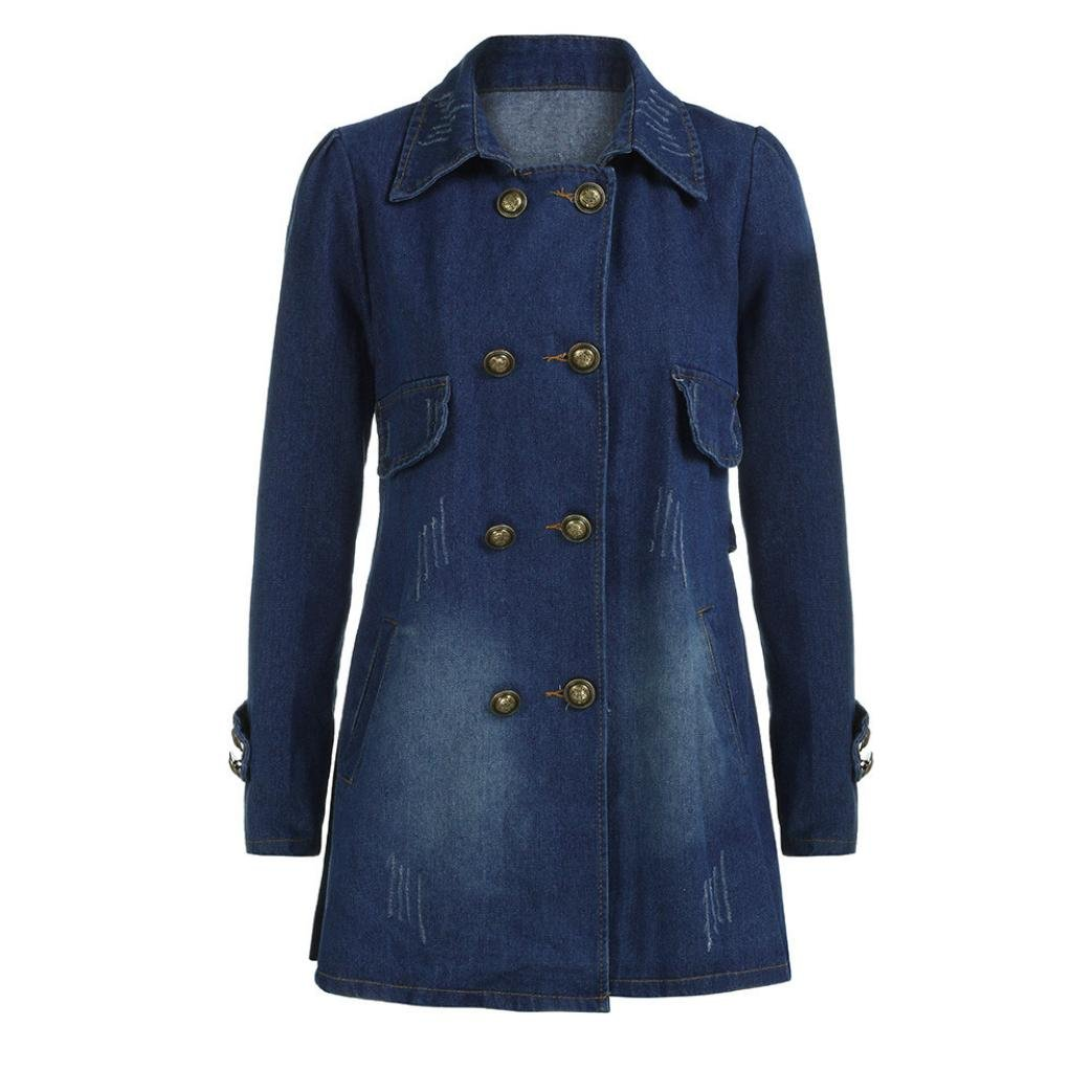 Long Denim Jacket Coat Women,Nomeni Casual Long Sleeve Jean Outwear Overcoat NOMENI6511
