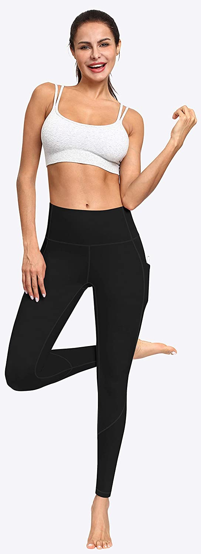 Yoga Pants with Pockets for Women Tummy Control 4 Ways Stretch Leggings FUNANI High Waist Yoga Pants