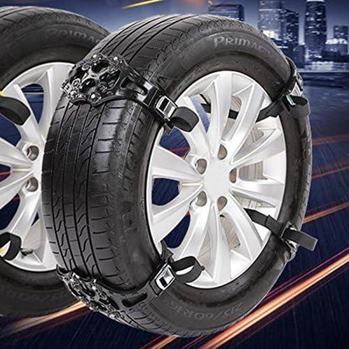 Wewoo Cadenas de Nieve para el Coche de gráficos Negro Antideslizantes neumáticos 8pcs: Amazon.es: Coche y moto
