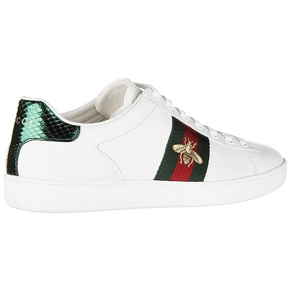 Gucci Zapatillas Deportivas Mujer Bianco 39 EU  Amazon.es  Zapatos y  complementos a10947e598e