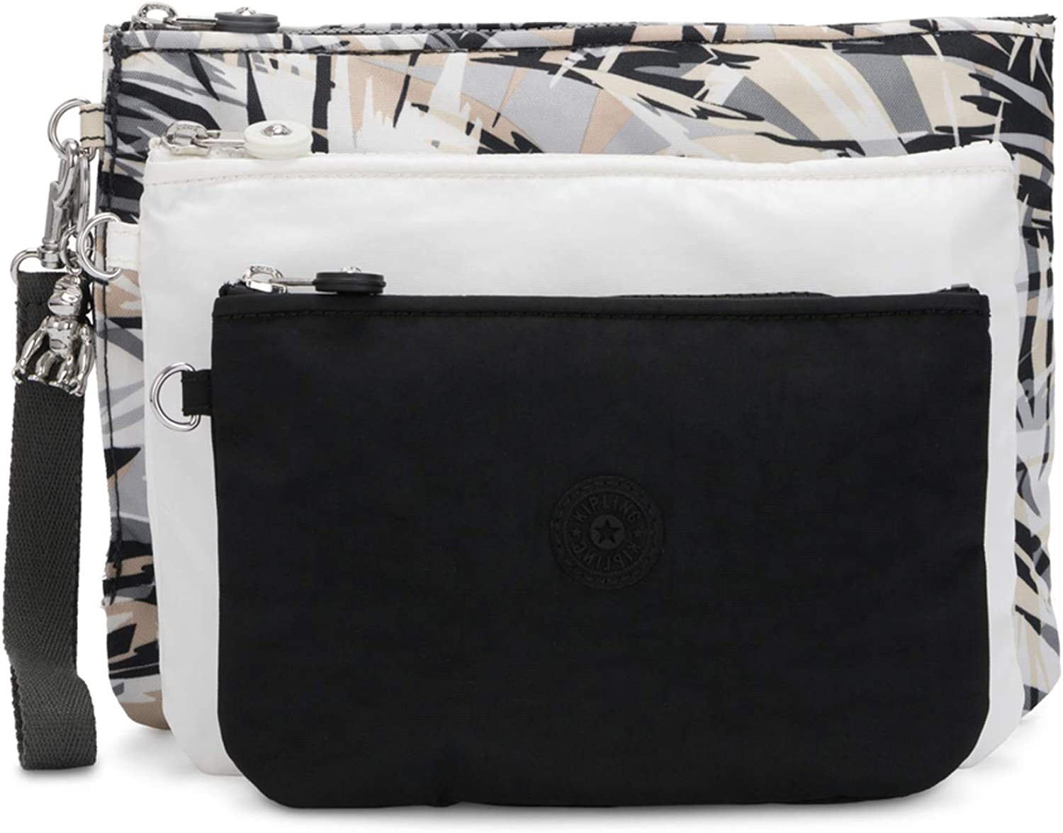 BLACK INDIGO 73P Kipling Womens 3 x Wallet Black Black