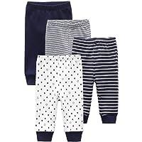 Kiddiezoom Pantalones de deporte unisex para bebé, 4 unidades