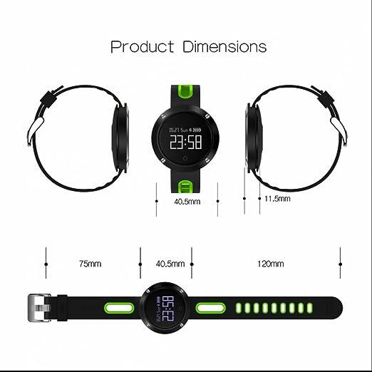 Smart Watch con medidor de frecuencia cardíaca Contador de Calorías Health Monitor Dormir llamadas SMS SNS compatible con Android teléfono y iOS: Amazon.es: ...