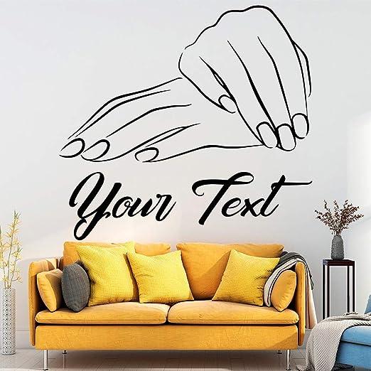 Nombre del salón Baeuty personalizado hecho a mano pegatinas ...