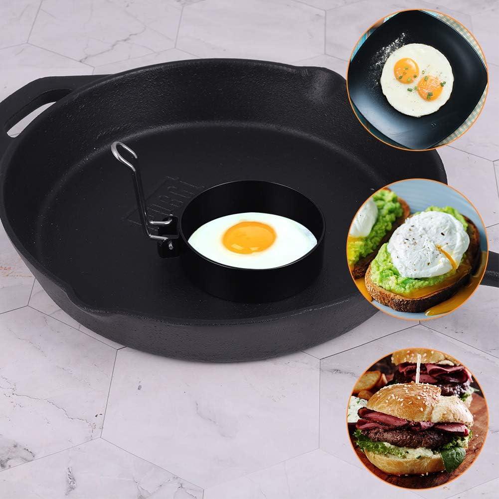 Chutoral 4pcs Egg Rings Non Stick Stainless Steel Pancake Mould Egg Frying Rings for Cooking Egg Pancake Omelette Maker Mold Egg Moulds Set