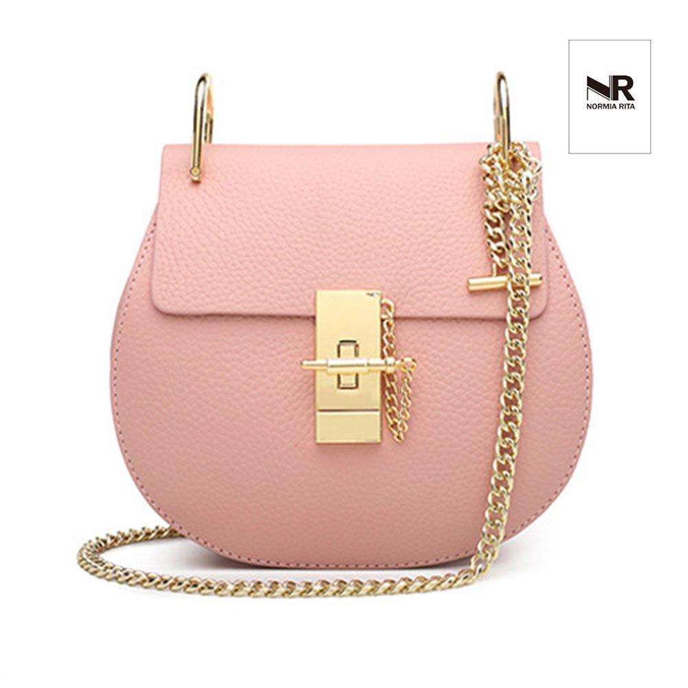 Normia Rita Punk Style U-Ring Flap Bag Chain Bag Crossbody Envelope Bag Clutch Mini Bags For Girls - Pink