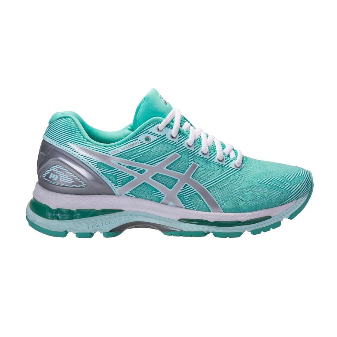 ASICS Women's Gel-Nimbus 19 Running Shoe B077F18JTF 9.5 B(M) US|Mint/Silver/Blue