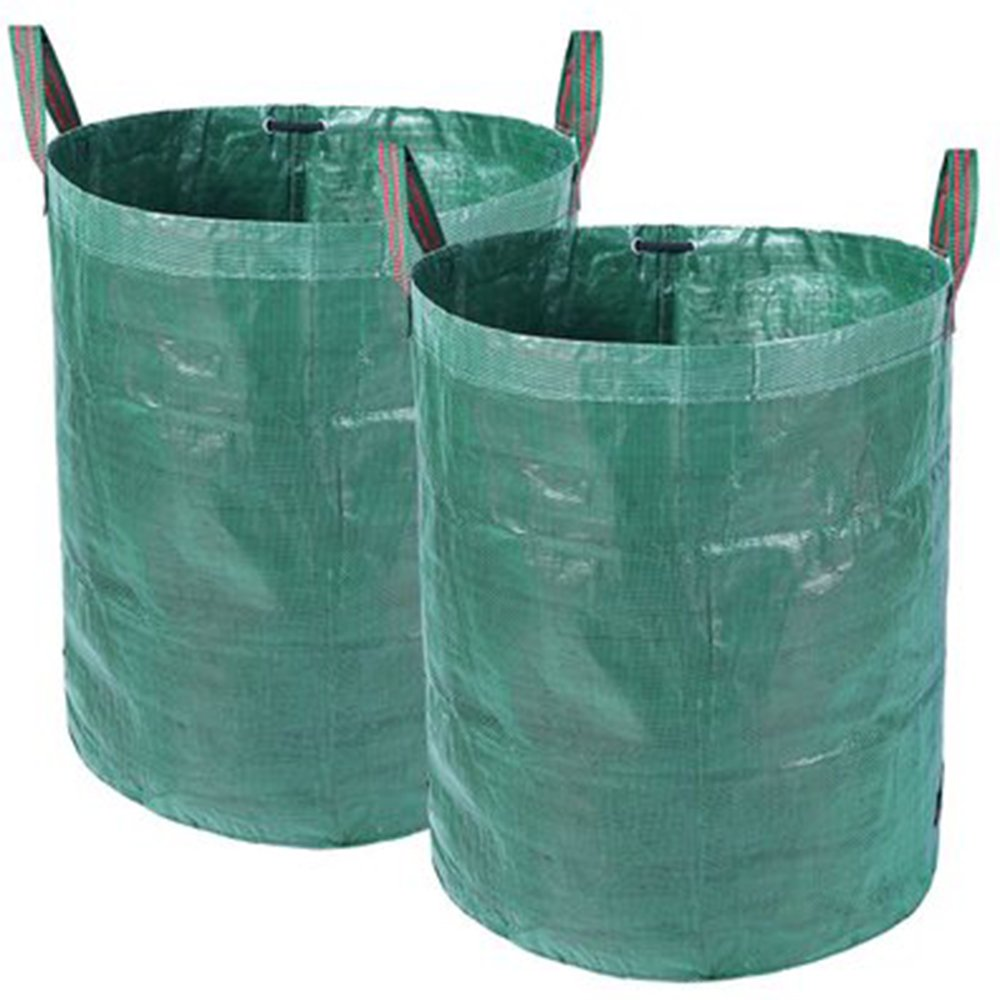 Kadaon 2 Pack 72 Gallons Large Garden Waste Bags, Collapsible & Reusable Gardening Lawn Leaf Bags