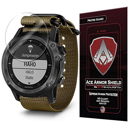 Ace Armor Shield Shatter Resistant Screen Protector for the Garmin tactix Bravo with free lifetime Replacement warranty