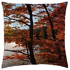 Autumn Red Tree - Throw Pillow Cover Case (18