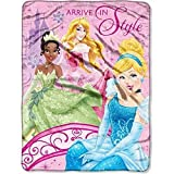 "Officially Licensed Disney Princess ""Royal Arrival"" Micro Raschel Throw, 46 by 60-Inch"