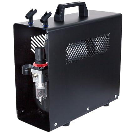 Compresor de aerógrafo Fengda FD-196A con calderín / regulador de presión / 3.5L