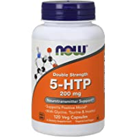 NOW Double Strength 5-HTP 200 mg,120 Veg Capsules