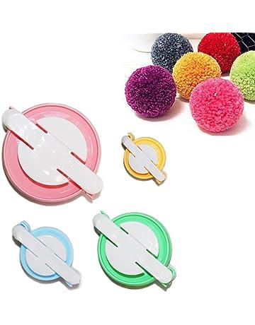 Taleemall 4 Tamaños (pequeño a grande) Pompón Hacedor Pelusa Bola Herramienta de DIY Pom