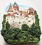 Bran Castle (Dracula's) Transylvania ROMANIA Resin 3D fridge Refrigerator Thai Magnet Hand Made Craft. by Thai MCnets