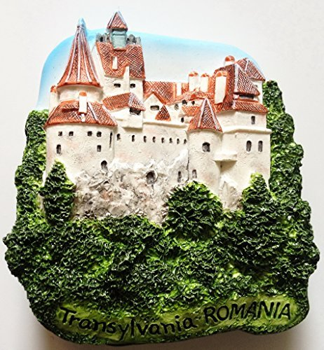 Bran Castle (Dracula's) Transylvania ROMANIA Resin 3D fridge Refrigerator Thai Magnet Hand Made Craft. by Thai MCnets by Thai MCnets