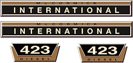 IHC Aufkleber Mc Cormick Traktor 724 gold Logo Emblem Sticker Label