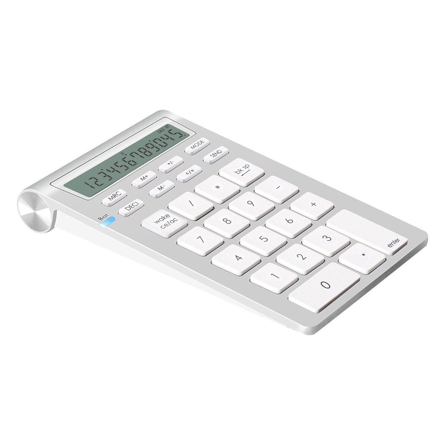 Alcey Wireless Bluetooth Numeric Keypad with Calculator Function for iMac, MacBooks,PCs and Laptops{Upgraded Version}