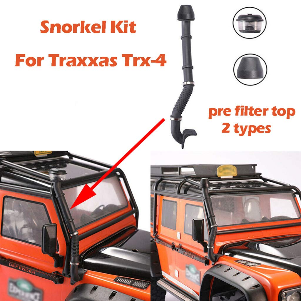 DDLmax Simulated Snorkel Air Intake Clamp Set for Land Rover Traxxas TRX4 D90 D110