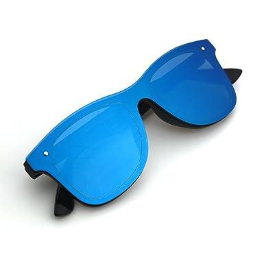 Amazon.com: JOOX reflectante sin montura anteojos de sol una ...