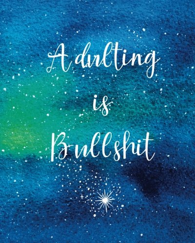 Adulting-is-Bullshit-Graph-Paper-Notebook-with-Funny-Quote-Watercolor-Galaxy-Cover-160-Page-Softcover-Journal-4-Squares-per-Inch-Graph-Paper--Journaling-Office-Work-Notes-and-School