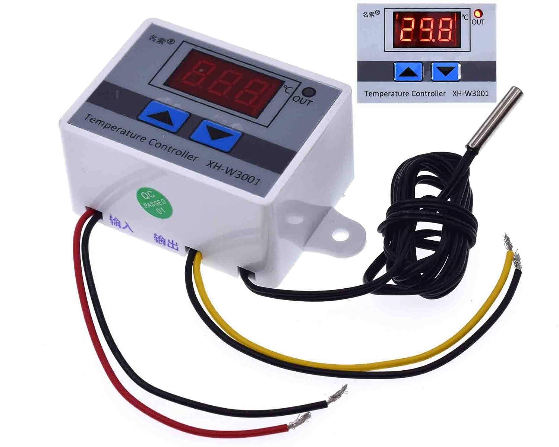 110V 220V 12V Digital LCD Thermostat Regulator Temperature Controller control