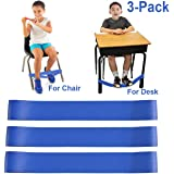 Chair Bands for Kids with Fidgety Feet, Alternative Seating in Classrooms, for Kids with Sensory ADHD ADD Autism and Sensory Needs, Chair Bands Made From Natural Latex, Good Resilience Toughness 3 PCS