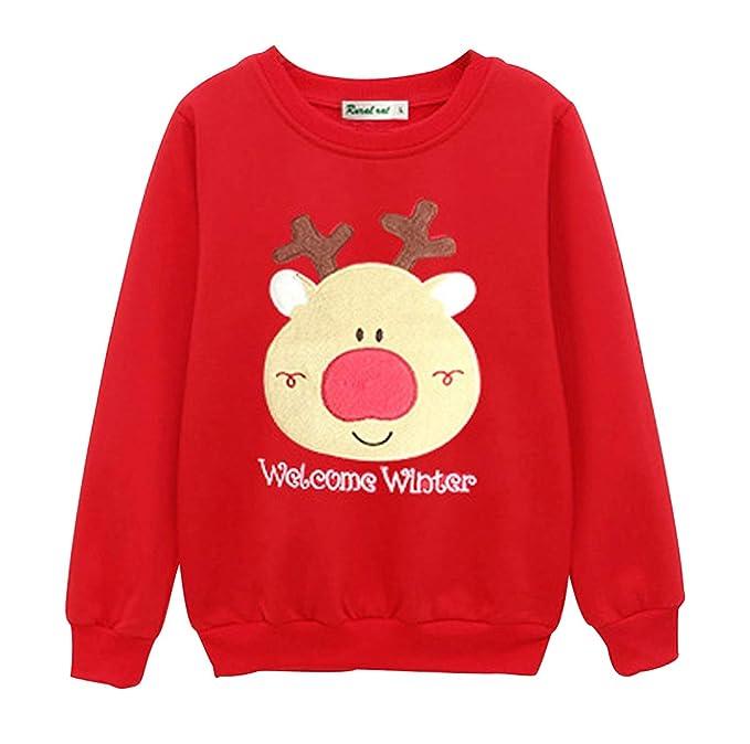 Sudadera Navidad Sudaderas Navideñas Familiares Jersey Niño Niña Sueter Navideño Hombre Mujer Reno Sweaters Estampadas Pullover Camisetas Cuello Redondo ...