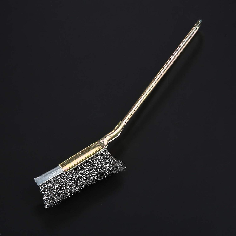 Steel Curving Head alambre de acero inoxidable cepillo de acero inoxidable rueda accesorios cepillo de limpieza giratorio Mini cabezal recto 50