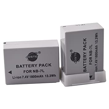 DSTE 2x NB 7L Replacement Li ion Battery for Canon PowerShot G10 G11 G12 SX30 IS Digital Camera Camera Batteries