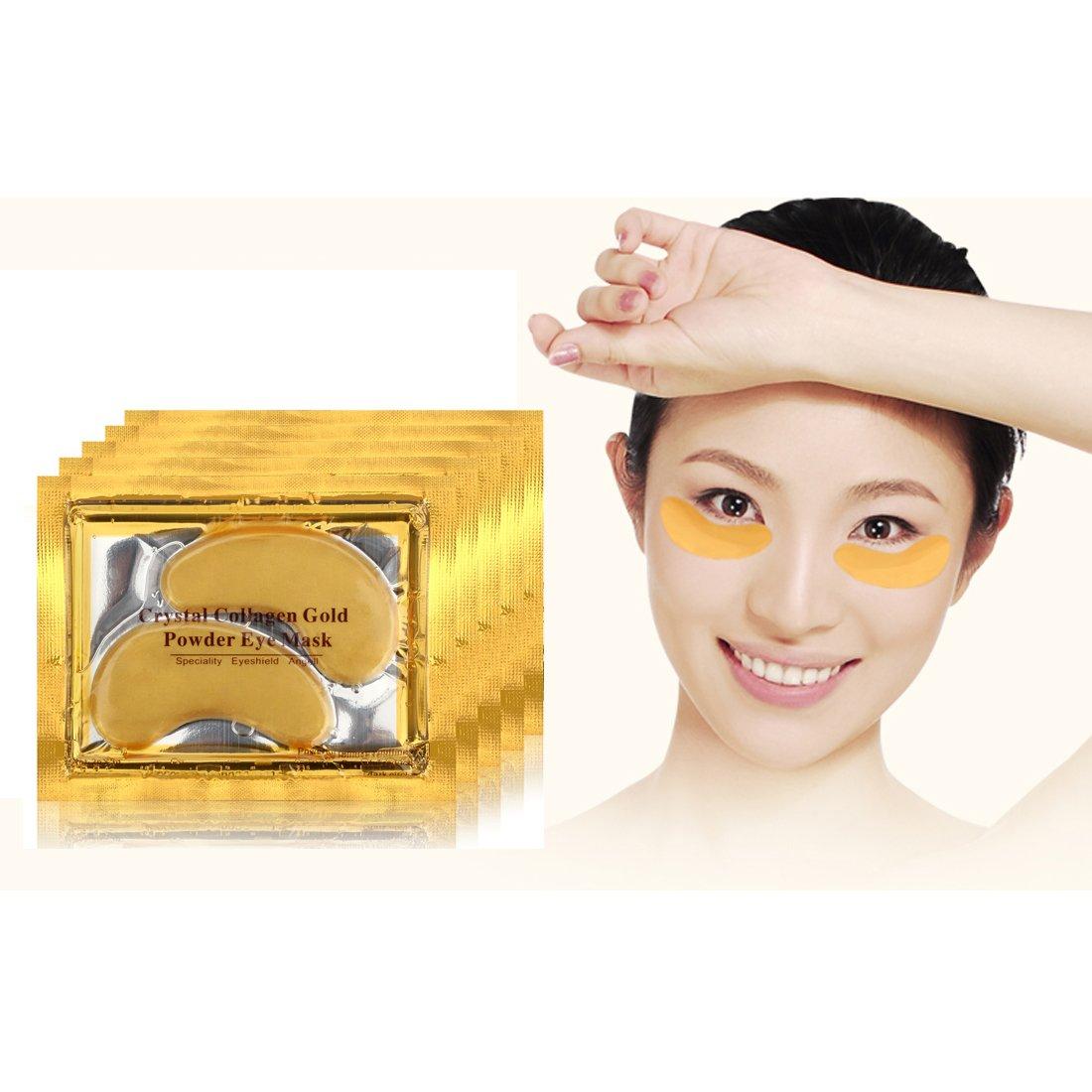 30 Pairs 24K Gold Powder Gel Collagen Eye Mask Masks Sheet Patch Beauty Tools MQ