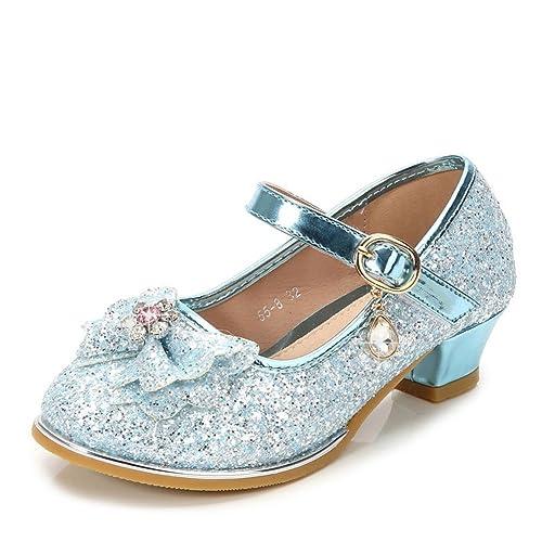 17463943 Niñas Lentejuelas Princesa Calzado Plano Fiesta Vestir Zapatos Bailarinas  Sandalias: Amazon.es: Zapatos y complementos