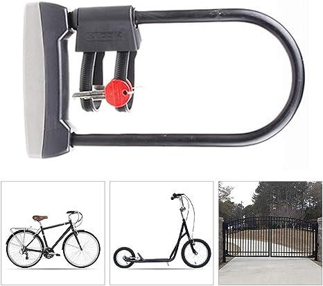 Candado Moto Bici,Antirrobo Candado Bicicleta alta Seguridad ...