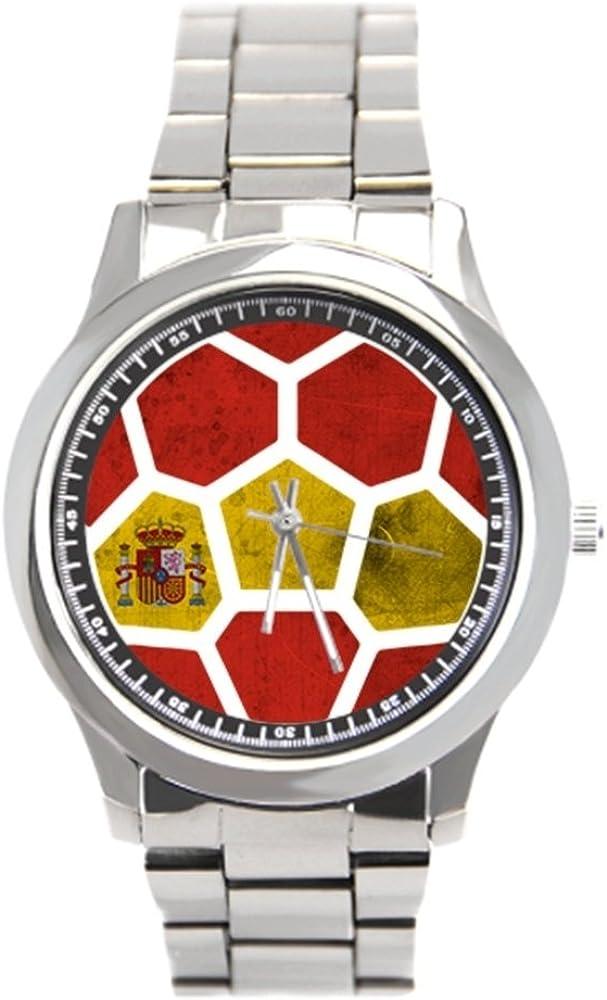 blue5 Acero Inoxidable Relojes España Copa del Mundo fútbol Reloj de Pulsera Correas: Amazon.es: Relojes