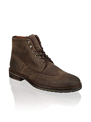 brand new 64c7c 6ad15 PAT CALVIN, Herren Stiefel in Cognac oder schwarz, zeitlos eleganter Brogue  Schnürstiefel aus feinem Leder