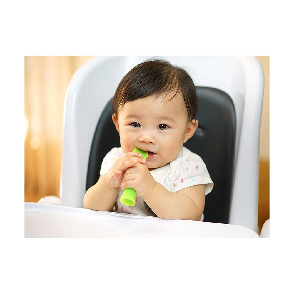 Olababy 100% Silicone Soft-Tip Training Spoon Teether for Baby Led Weaning 2pack by Olababy (Image #6)