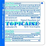 TOPICAINE 4%- Lidocaine Gel (10 Grams) Anesthetic