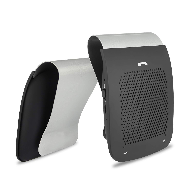 Cyboris Bluetooth Car Kit Vivavoce, Compatibile con Auto Parasole Bluetooth Altoparlante Vivavoce Bluetooth di Chiamata Wireless Gratuito Lettore Musicale Microfono con Clip per cellulari e Tablet