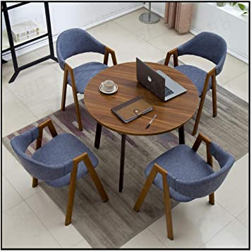 Amazon Com Meeting Table And Chairs 90cm Small Round Table Office Leisure Seat Negotiation Room Living Room Cafe Milk Tea Shop Hotel Bar Lounge Area Reception Room Study Room Living Room Balcony