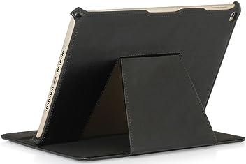 StilGut UltraSlim, housse V2 avec fonction de support pour l'iPad Air 2, en noir vintage