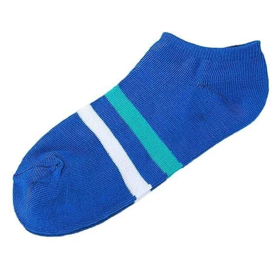 VJGOAL Moda casual unisex Zapatillas de calcetines a rayas cómodas Tobillo corto Calcetines de algodón de