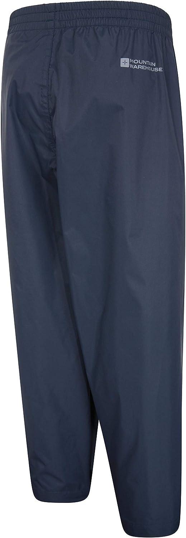 Pantalones Plegables para Lluvia Pantal/ón con Costuras Selladas Mountain Warehouse Protectores Impermeables para ni/ños Pakka Tobillo Ajustable para la Escuela