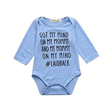 79d9a6898367 Amazon.com  Hatoys Toddler Baby Boys Girls Letter Print Jumpsuit ...