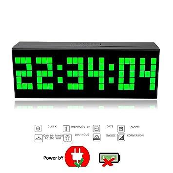 23,5cm Trois Dimension Pendule Murale électronique Moderne Grand Chiffre  Digitale 3D Horloge Murale à