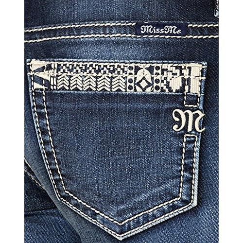 Miss Me Women's Born to Be Boho Ankle Skinny Jeans - Jp7762ak MK 618